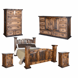 Old West Rustic Bedroom Set
