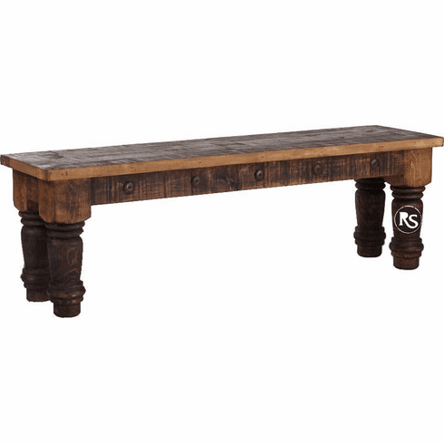 Old West Rustic Bench 57""