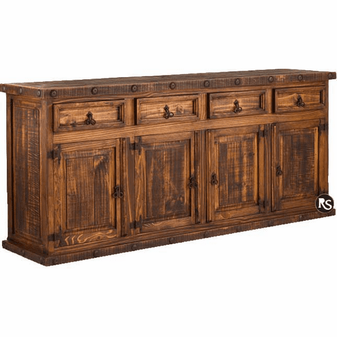 Old West Rustic Buffet 77""