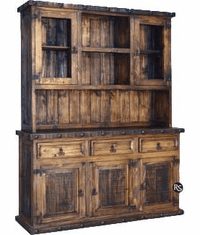 Old West Rustic China Cabinet