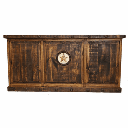 Old West Rustic Desk W/ Marble Star