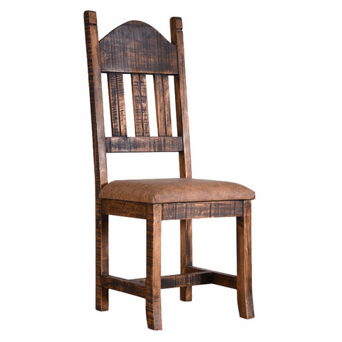Old West Rustic Dining Chair W/ Cushion