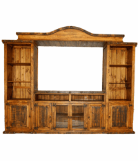 Old West Rustic Entertainment Center