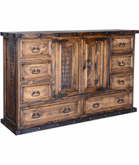 Old West Rustic Grande Dresser
