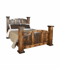 Old West Rustic Mansion Bed Frame
