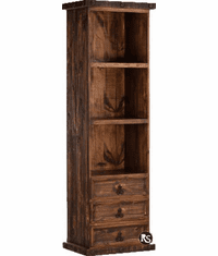Old West Rustic Narrow Bookcase