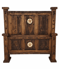 Old West Rustic Oasis Bed W/ Marble Star