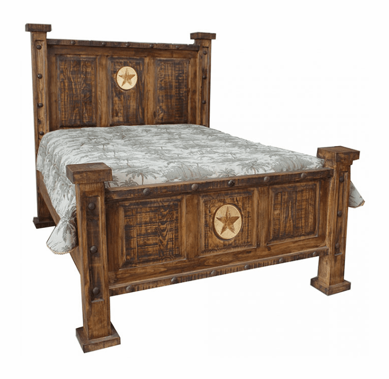 Old West Rustic Oasis Bed W/ Star