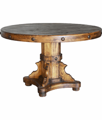 Old West Rustic Round Dining Table