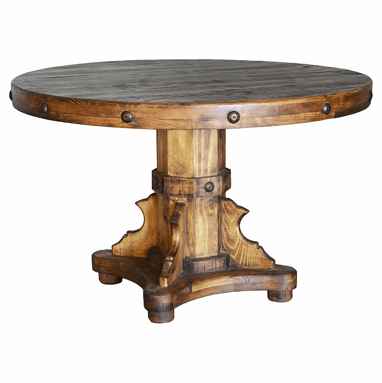 Rustic Round Dining Table, Rustic Dining Table, Wooden Table