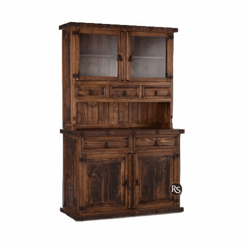 Old West Rustic Small China Cabinet