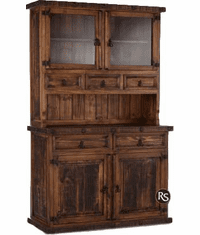 """Old West Rustic Small China Cabinet 48"""""""