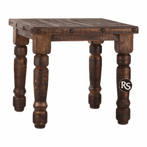 Old West Rustic Square Dining Table