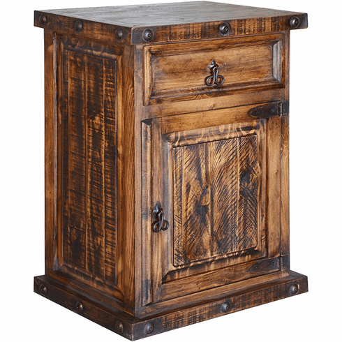 """Old West Rustic Tall Night Stand 31""""H"""
