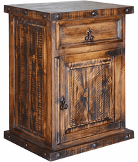 "Old West Rustic Tall Night Stand 31""H"