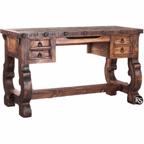 Old West Rustic Wood Writing Desk