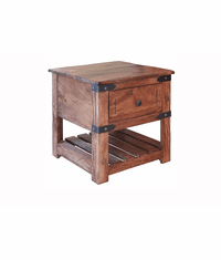 Parota Rustic Square End Table