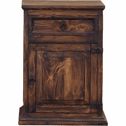 Peubla Rustic Night Stand Dark Stain R