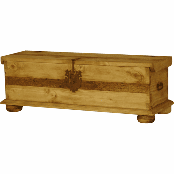 Pine Rustic Trunk w/ Legs Large