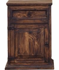 Puebla Rustic Night Stand Dark Stain L
