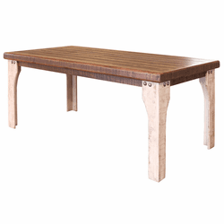 Puebla Rustic Two Tone Dining Table