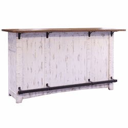 Puebla Rustic White Wash Bar