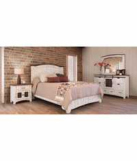 Puebla Rustic White Wash Bedroom Set