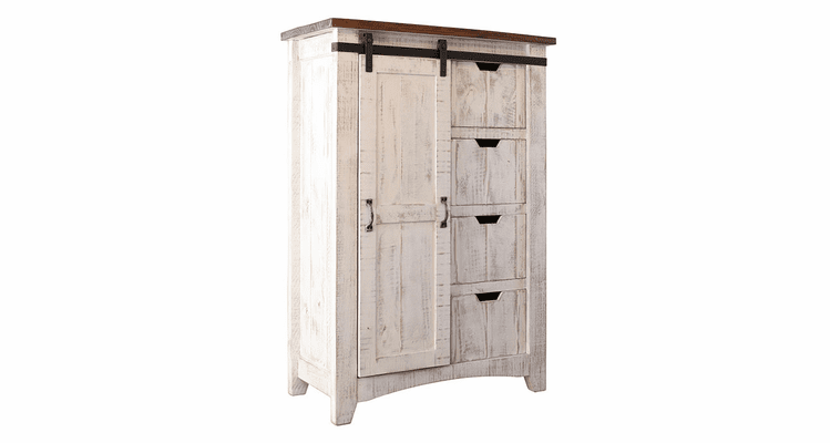 Puebla Rustic White Wash Chest