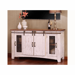"Puebla White Wash 60"" TV Stand"