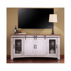 "Puebla White Wash 79"" TV Stand"