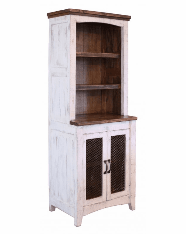 Puebla White Wash Storage Shelf Bookcase