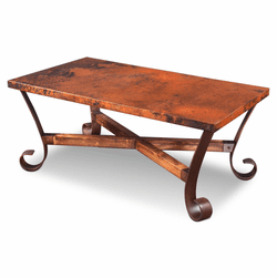 Ridge Rectangular Copper Coffee Table