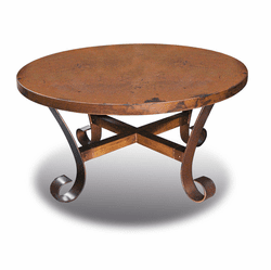 Ridge Round Copper Coffee Table