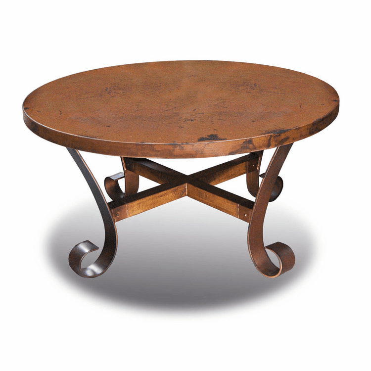 Copper Coffee Table Round Copper Table Hammered Table