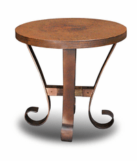 Ridge Round Copper Side Table