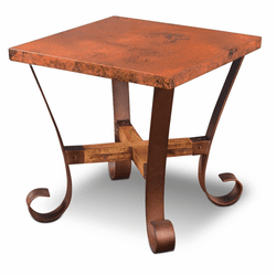 Ridge Square Copper Side Table