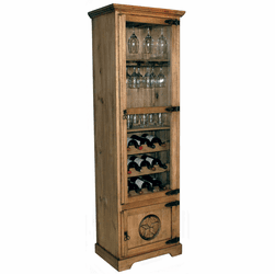 Rivera Rustic Wine Cabinet W/ Star