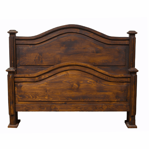 Roma Rustic Bed Frame Dark Stain