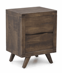Ruidosa Rustic Wood 2 Drawer Night Stand
