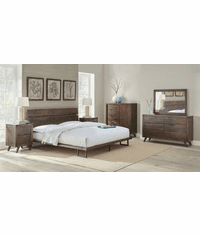 Ruidosa Rustic Wood Platform Bed Set