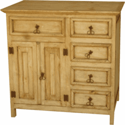 Rustic Bathroom Vanity W/ Drawers 36""