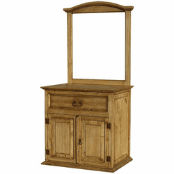 Rustic Bathroom Vanity w/ Mirror Frame