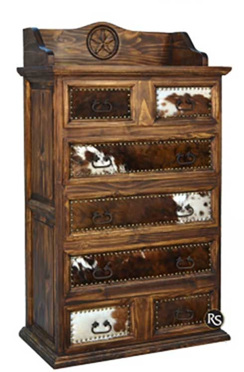 Cowhide Rustic chest