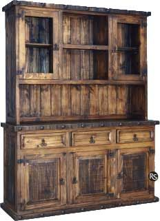Old West Rustic China Cabinet $1249.99