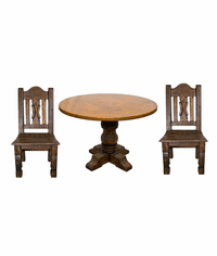 Rustic Copper Table Set w/ 4 Chairs