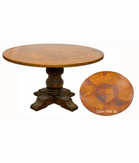 Rustic Copper Top Round Table