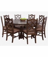 Rustic Dark Birch Dining Table Sets