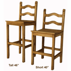 Rustic Ladderback Bar Stool