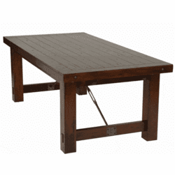 Rustic Mahogany Dining Table