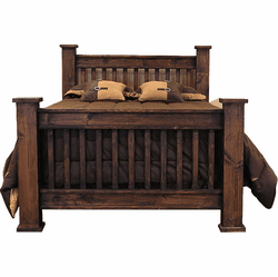 Rustic Mission Bed Frame Dark Stain